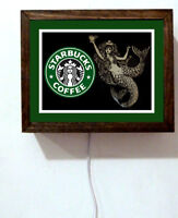 Starbucks Coffee Shop Seattle Collectible Mermaid Barista Light Lighted Sign