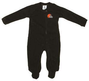 Outerstuff NFL Infants Cleveland Browns Blanket Sleeper Coverall