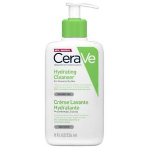 Cerave Hydrating Cleanser 236Ml Facial Makeup Removing Ceramide For Dry Skin New