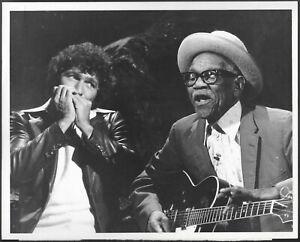 Blues Guitarist Furry Lewis Mac Davis Original 1970s TV Promo Photo Harmonica