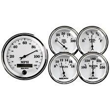 "Auto Meter 1200 Calibre Kit 5 Piezas 3-3/8"" Eléctrico Speedo + 2-1 / 16"" Wfov"