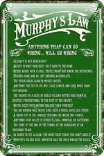 More details for murphy's law metal embossed sign 30cm x 20cm (sg 01832)
