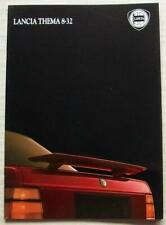 LANCIA THEMA 8-32 Car Sales Brochure 1987 FRENCH TEXT #045955306