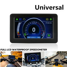 12V Motorcycle 1,2,4 Cylinder LCD Display Multi-function Instrument Speedometer
