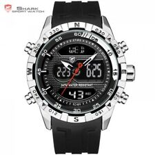 Shark sport watch for men double movement chronograph 3ATM water resistant male