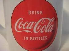 "Vintage Original White COCA COLA Button on a Coffee Mug Cocoa 4""X3.25"""