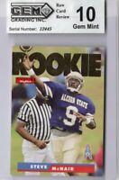 GEM MINT GRADED 10 1995 SkyBox Impact #171 Steve McNair RC Rookie Oilers Titans