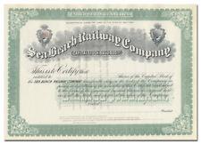 Sea Beach Railway Company Stock Certificate (Coney Island, New York)