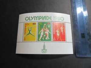 STAMP MINISHEET, MNH, SURINAME 1980 MOSCOW OLYMPICS, 3 VALUES, SPORTS EXC