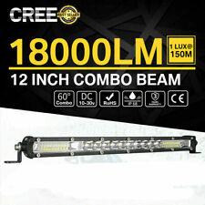 12 Inch 450w Led Work Light Bar Combo Spot Flood Driving Off Road Suv Boat Atv