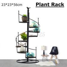 Plant Stand Spiral Iron Flower Pot Screw Holder Shelf Rack Display Garden