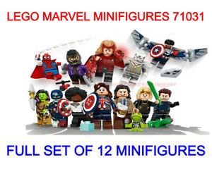 LEGO MARVEL STUDIOS MINIFIGURES 71031 FULL SET OF 12 MINIFIGURES