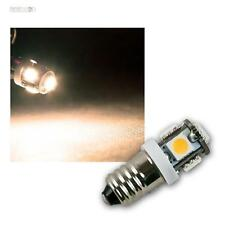 10 X LAMPADINA LED e10 bianco caldo, 12v DC, 5x 3-Chip SMD LED, Lampada Lampada e-10