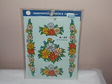 Vtg 1981 Decoral Handpainted Waterslide Decals Daisies  A-29 New Old Stock