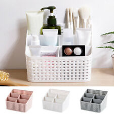 Cosmetic Storage Box 5 Compartments Toiletry Organiser Makeup Basket Desk Tidy