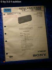 Sony Service Manual TGV 100 /100E TV Tuner Unit  (#5293)