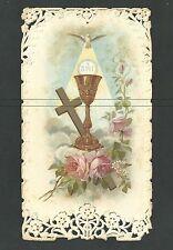 Estampa antigua de Primera Comunion andachtsbild santino holy card image pieuse