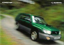 Subaru Forester 1998-2000 UK Market Sales Brochure 2.0 GLS S Turbo