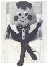 Humpty Dumpty Soft Toy Diagram Vintage Sewing Pattern Instructions S10024