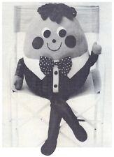 Humpty Dumpty Blanda Juguete diagrama Vintage instrucciones de patrón de costura S10024