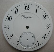 VINTAGE LONGINES CHRONOGRAPH POCKET WATCH PORCELAIN DIAL dia 42.41 mm NOS