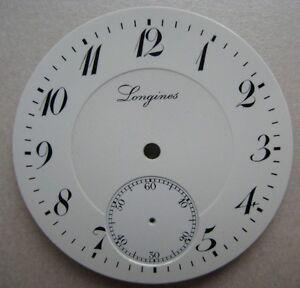 VINTAGE LONGINES CHRONOGRAPH POCKET WATCH PORCELAIN DIAL dia 42.41 mm NOS