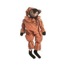 "FGS73319 19"" Blythe Blk Cat Joe Spencer Halloween Art Doll Scarecrow Feline"