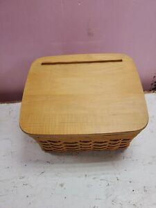 Longaberger Basket 2001 Recipe W/ Lid 11x9x7.5 (dd) (a422)