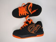 Heelys Size youth 1 worn once excellent condition black with orange trim