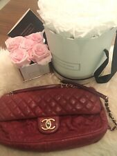 Original Vintage Chanel CC Easy Flap Bag in Rot