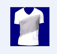 Armani Exchange A/X White Gray Logo Graphic Design Cotton Men's T-Shirt Sz 2XL
