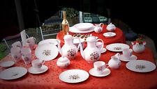 """Hutschenreuther Porzellan """"Porcelaine Rose"""" Rosendekor und Rosenrelief am Rand"""