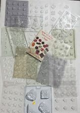 19 Lot of Candy Making Chocolate Molds Mixed Variety Shapes Themes