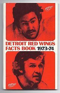 1973-74 Detroit Red wings Media Guide