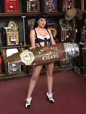 "54"" Vintage Copper Cigar Retail Store Trade Sign ""Watch Video"""