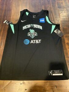 Nike New York Liberty Sabrina Ionescu Size Large Swingman Jersey Black