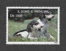 Dog Photo Body Study Portrait Postage Stamp Parti SALUKI Sao Tome & Principe MNH