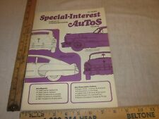 Special Interest Autos June - July 1972