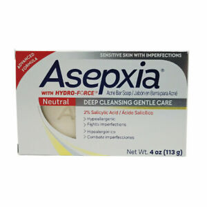 Asepxia Neutral Bar Soap. Anti Acne. Gentle Cleansing with Salycilic Acid. 4 Oz