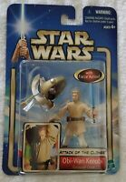 STAR WARS ATTACK OF THE CLONES OBI-WAN KENOBI CORUSCANT CHASE WITH FORCE ACTION