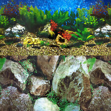 Aquarium Background Double-Sided Hawaii Blue Boulder Plants Tank - 385 cm-