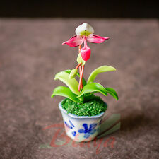Dollhouse Handmade Miniature Flower Clay Garden Miniatures Supply Doll Set FL17