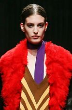 PRADA FALL 2014 RUNWAY Purple Violet Silk Skinny SCARF ~NWT~