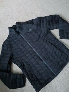 Mens The North Face Size L Black Quilted Coat Jacket Outdoor thermoball