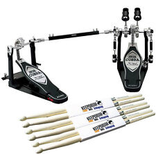 TAMA HP900PWN Iron CobraPower Glide Doppfelfußmaschine+KEEPDRUM Drumsticks 3Paar