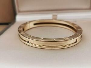 Bvlgari B.zero1 18 kt yellow gold bangle bracelet, size Medium, Ref BR856142