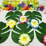 24PCS Tropical Hawaiian Green Leaves Luau Moana Festival PartyTable Decoration