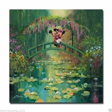 disney<James Coleman Mickey and Minnie at Giverny>art painting printed on canvas