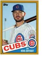 Kris Bryant 2020 Topps 1985 35th Anniversary 5x7 Gold #85-25 /10 Cubs