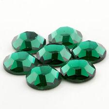 Vintage ss40 Swarovski Flatback Rhinestones Emerald 12pcs Art.2000 30011011